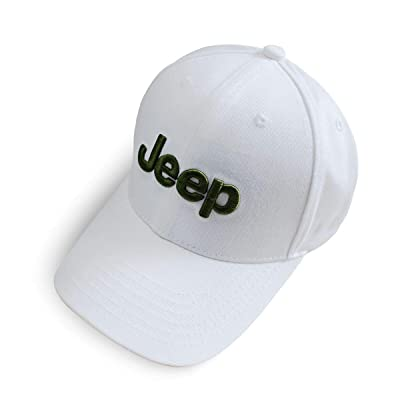 Wall Stickz BearFire Logo Embroidered White Color Adjustable Baseball Caps for Men and Women Hat Travel Cap Racing Motor Hat (fit Jeep): Automotive