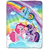 My Little Pony Microfleece Throw 46x60 Multicolor - Hasbro TRG