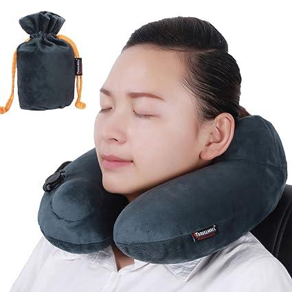 Amazon.com: jumei almohada de viaje cuello almohada inflable ...