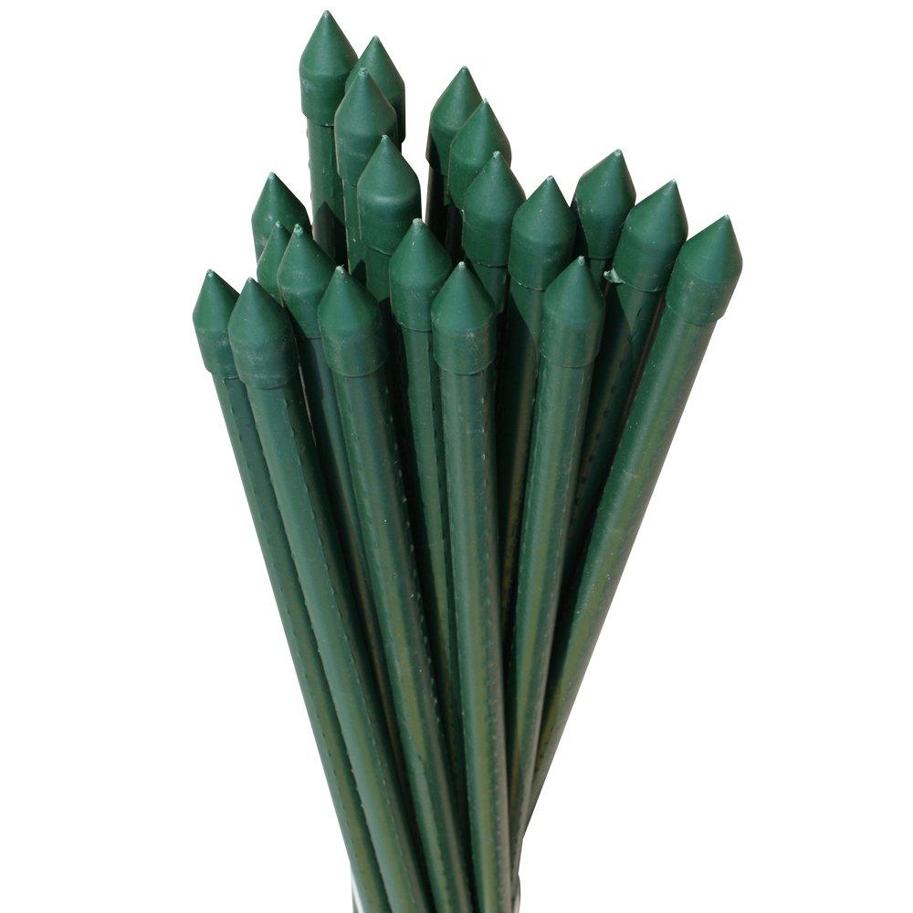 国華園 イボ付鋼管製支柱スーパー 直径16mm長さ150cm 100本1組 グリーン 園芸支柱 家庭菜園 イボ竹 B00UD1VAEG