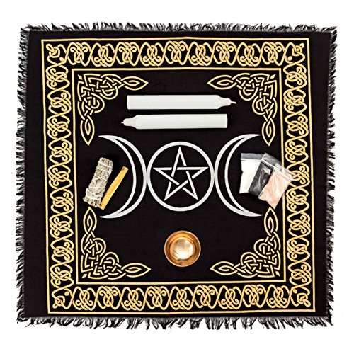 Alternative Imagination Wiccan Altar Supply Kit. Standard Kit Featuring a Copper Offering Bowl.