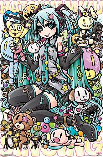 Amazoncom Trends International Hatsune Miku Toys Wall Poster
