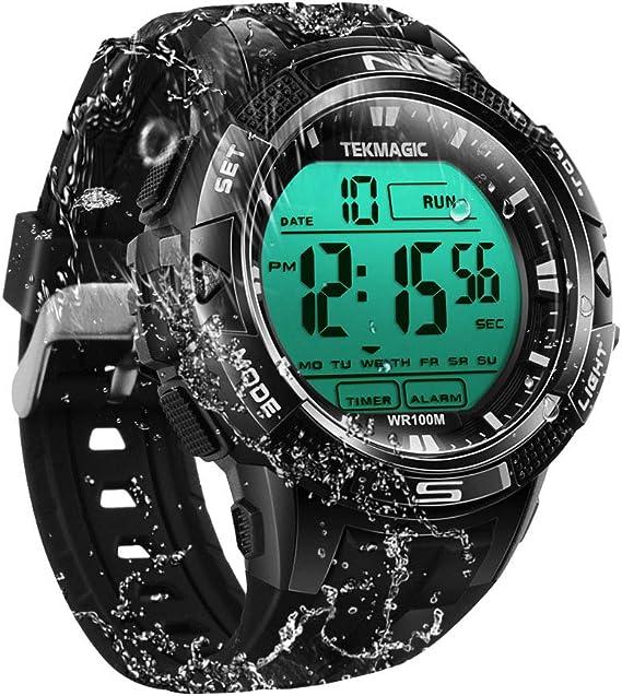 Amazon.com: TEKMAGIC 10 ATM Digital sumergible buceo reloj ...