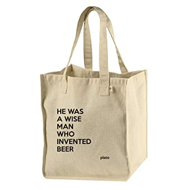 Amazoncom He Was A Wise Man Who Invented Beer Plato Hempcotton