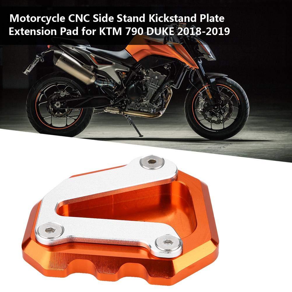 Duokon Motocicleta CNC Aleaci/ón de Aluminio Soporte Lateral Soporte de Soporte de Placa de Soporte de Soporte Ampl/íe para 790 DUKE 2018-2019 Gris
