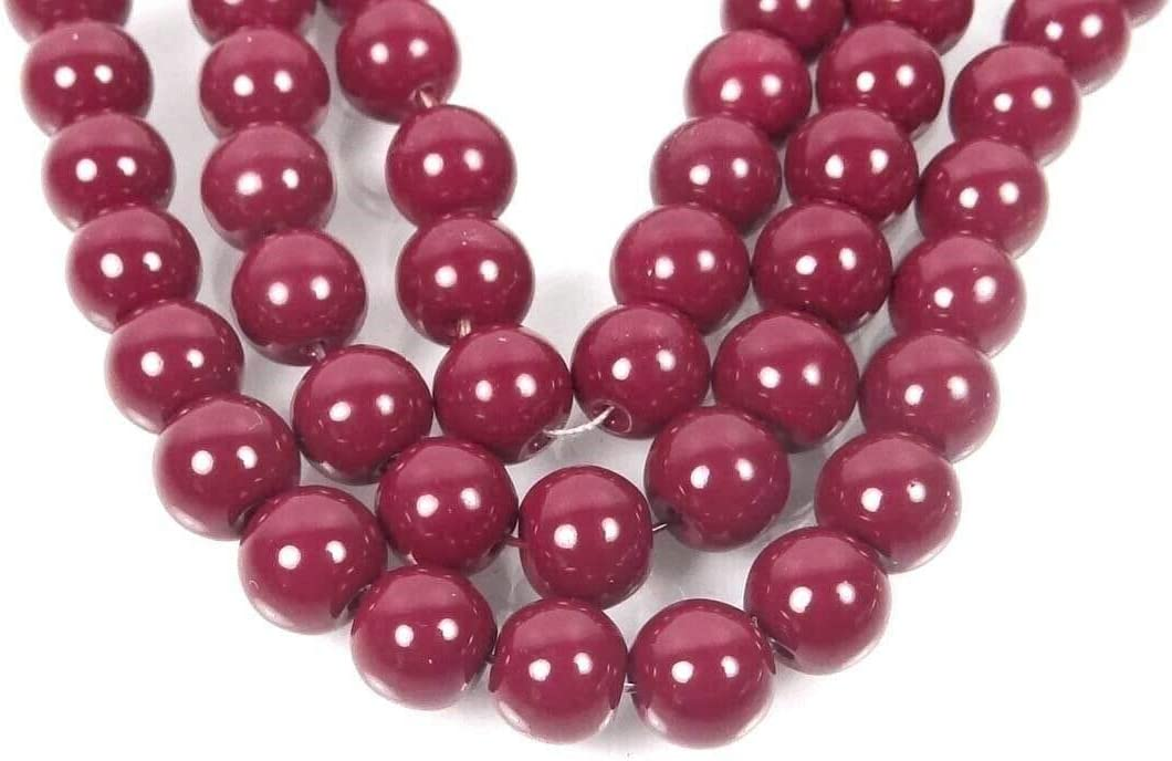 Maroon//Amaranth 10mm Arts /& Sewing by Perfect Beads Store Jewelry Making 25 Czech Glass Round Beads Beading DIY Crafting