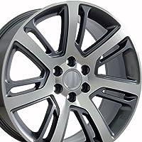 OE Wheels 22 Inch Fits Chevy Silverado Tahoe GMC Sierra Yukon Cadillac Escalade CA88 Gunmetal Mach'd 22x9 Rim Hollander 4738