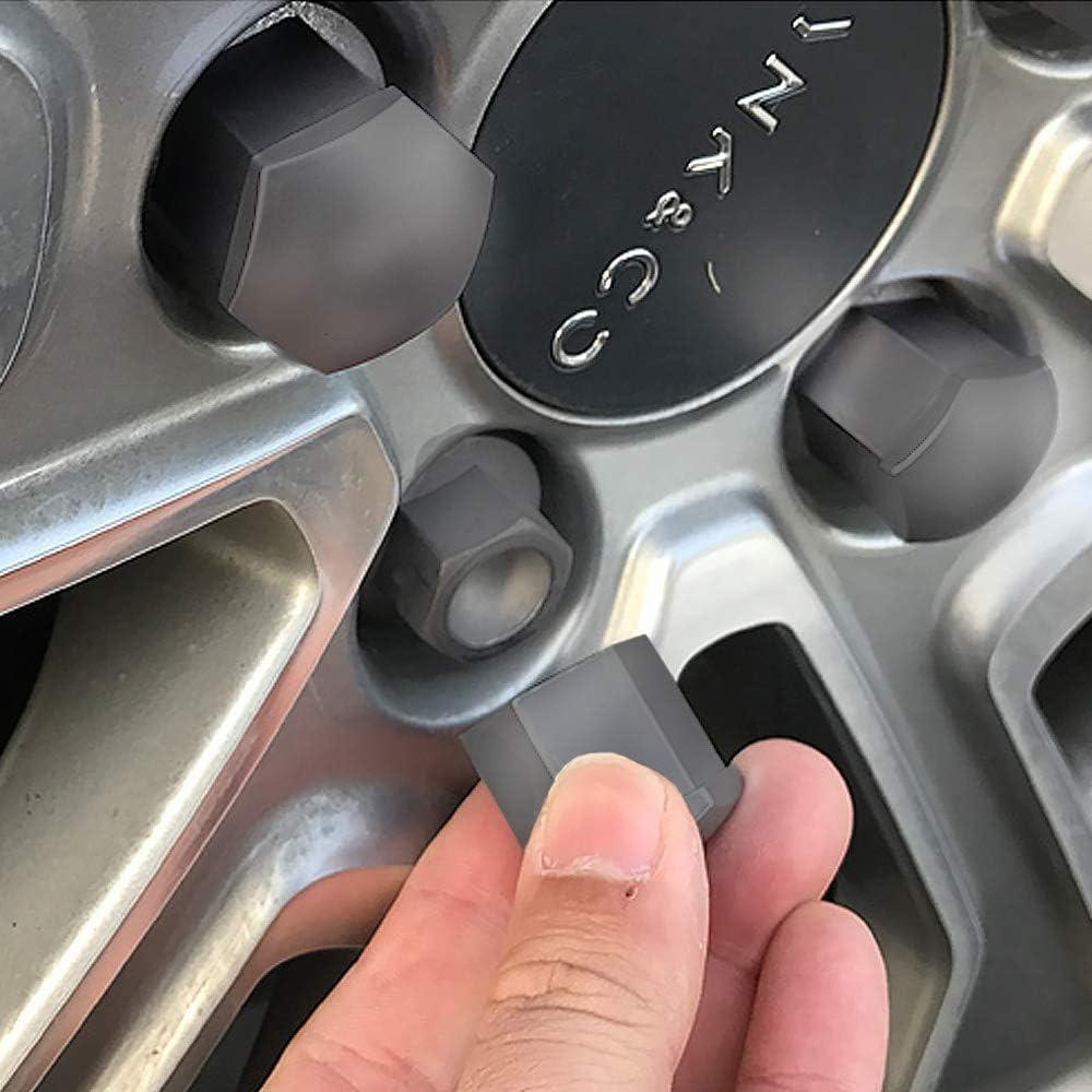TiooDre 20PCS 17/mm auto dado ruota ruota copertura universale mozzo ruota tappi a vite Antirust antipolvere protettiva
