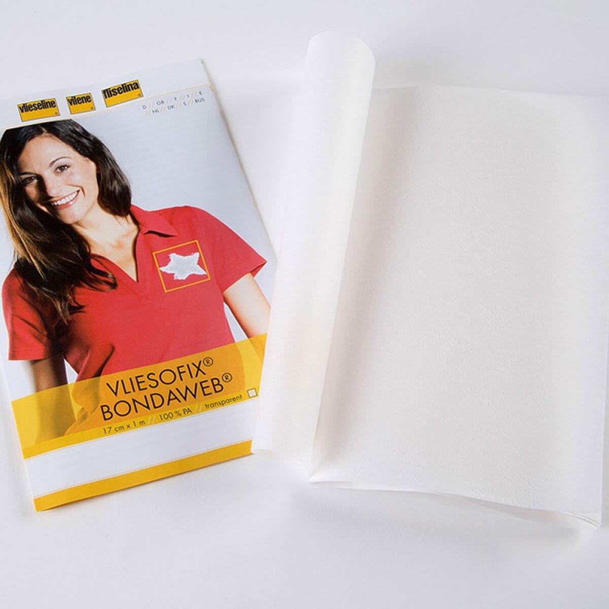 Longueur au choix par 50cm Vliesofix Voile thermocollant double face Vlieseline/® Largeur 90cm
