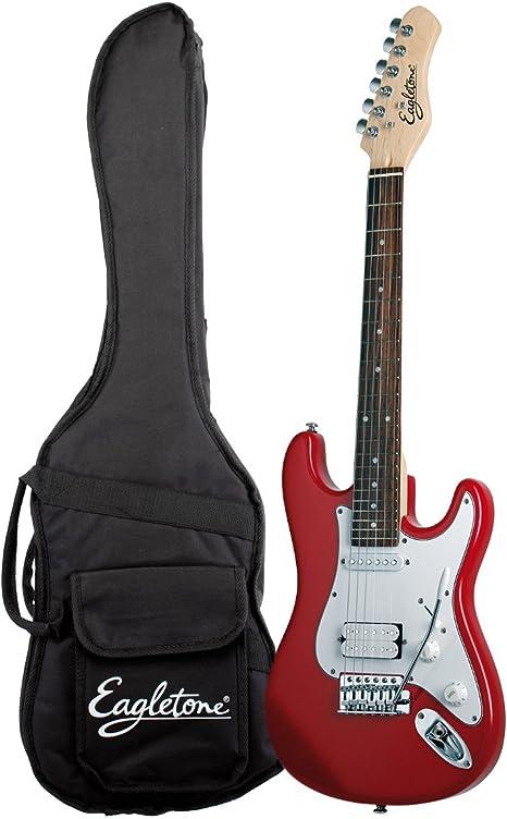 EAGLETONE SUN STATE Mini guitarra eléctrica para niño 564 mm rojo: Amazon.es: Instrumentos musicales