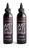 Just Date Syrup: Award-Winning Organic Date Syrup I Two 8.8 OZ Squeeze Bottles I Low-Glycemic, Vegan, Paleo