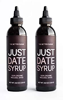 Just Date Syrup Squeeze Bottles With Low-Glycemic, Vegan, Paleo Coffee Syrup