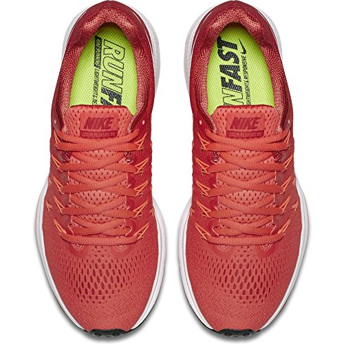 Nike Damen Air Zoom Pegasus 33 Bright Crimson / Gym Rot / Hell Mango / Weiß