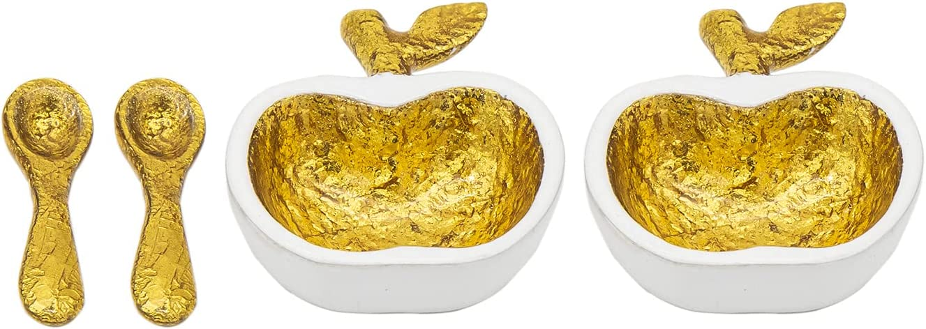 Godinger Mini Apple Honey Dish Jam Jar - Set of 2