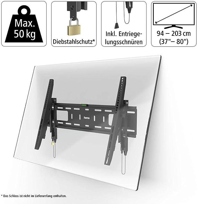 Tv Wandhalterung Tilt Professional 203 Cm 80 600x400 Schwarz Heimkino Tv Video