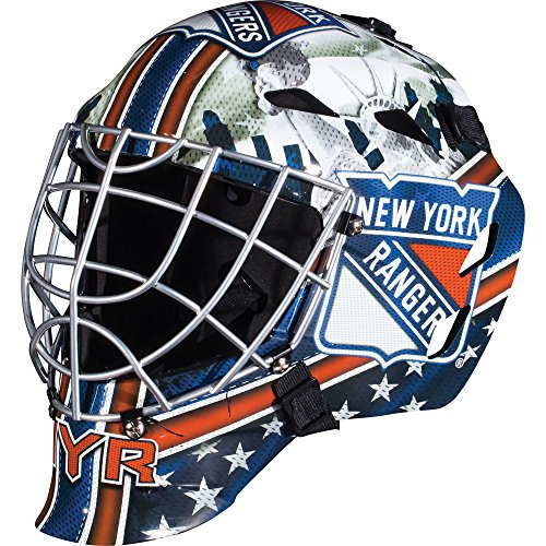 Franklin Sports New York Rangers Goalie Mask - Team Graphic Goalie Face Mask - GFM1500 Only for Ball & Street - NHL Official Licensed Product