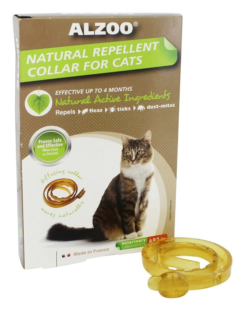 Amazon.com : ALZOO Natural Repellent Flea & Tick Collar for Cats 1-oz box 1-count : Pet Care Products : Pet Supplies