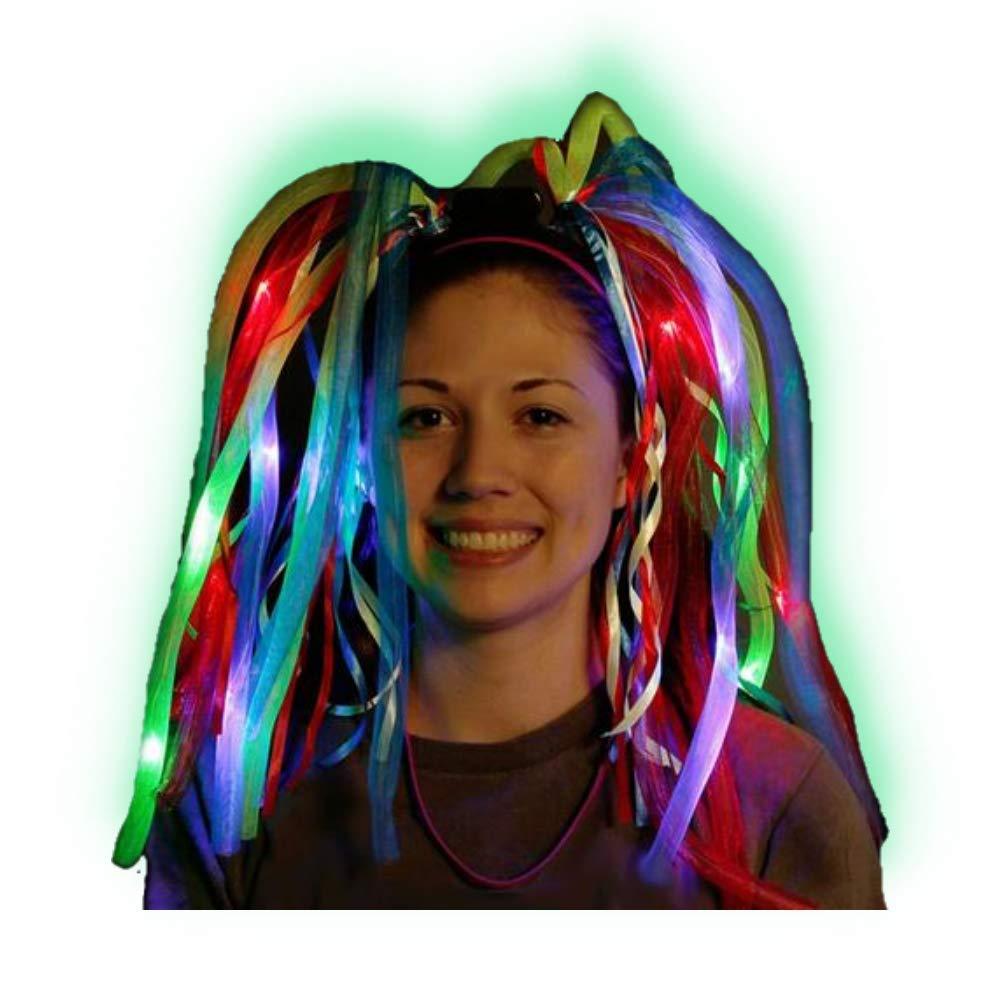 Peluca Diadema luminosa Led Multicolor ENTREGA 1-3 DÍAS