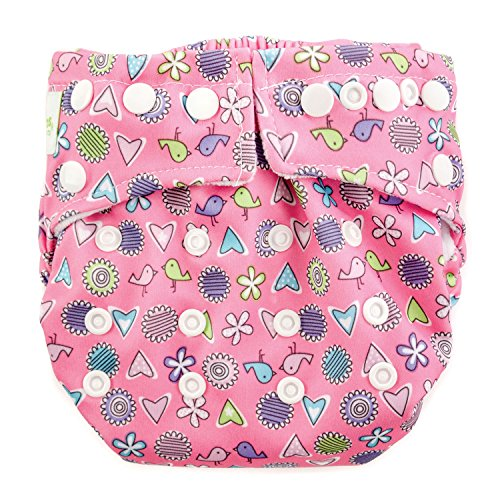 Price comparison product image Bumkins Snap-in-One Cloth Diaper,  Love Birds