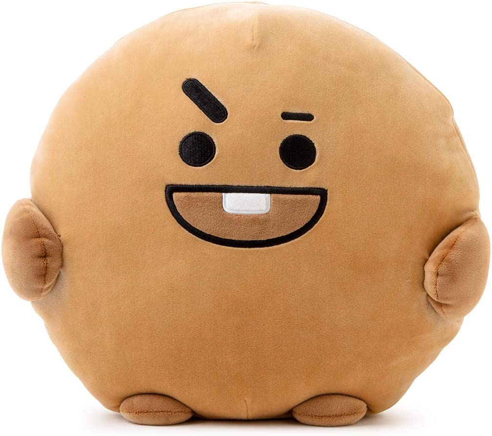 BT21 Official Merchandise by Line Friends – SHOOKY Character Pong Pong Cushion 11.8 Inches