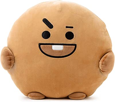 BT21 Official Merchandise by Line Friends - SHOOKY Character Pong Pong Cushion 11.8 Inches