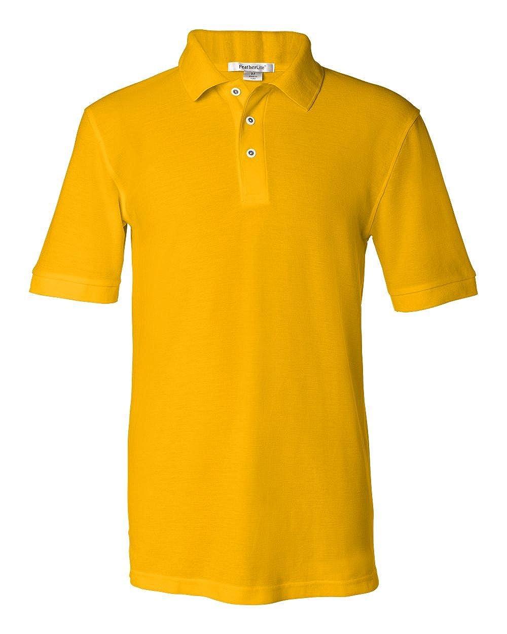 FeatherLite Mens 0500 Silky Smooth Pique Short Sleeve Sport Polo Shirt