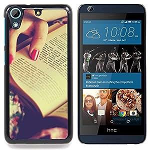 """Qstar Arte & diseño plástico duro Fundas Cover Cubre Hard Case Cover para HTC Desire 626 (Libro Rojo de Polonia"""")"""