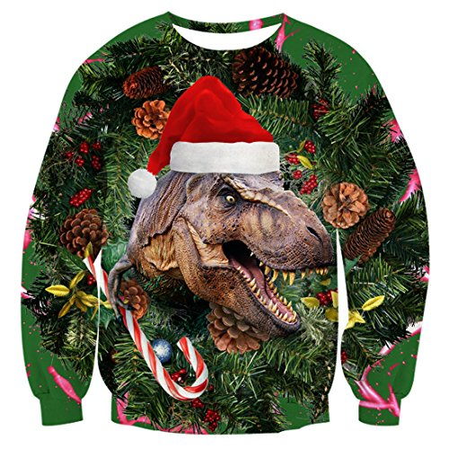 T-Rex Ugly Christmas Pullover Sweatshirt