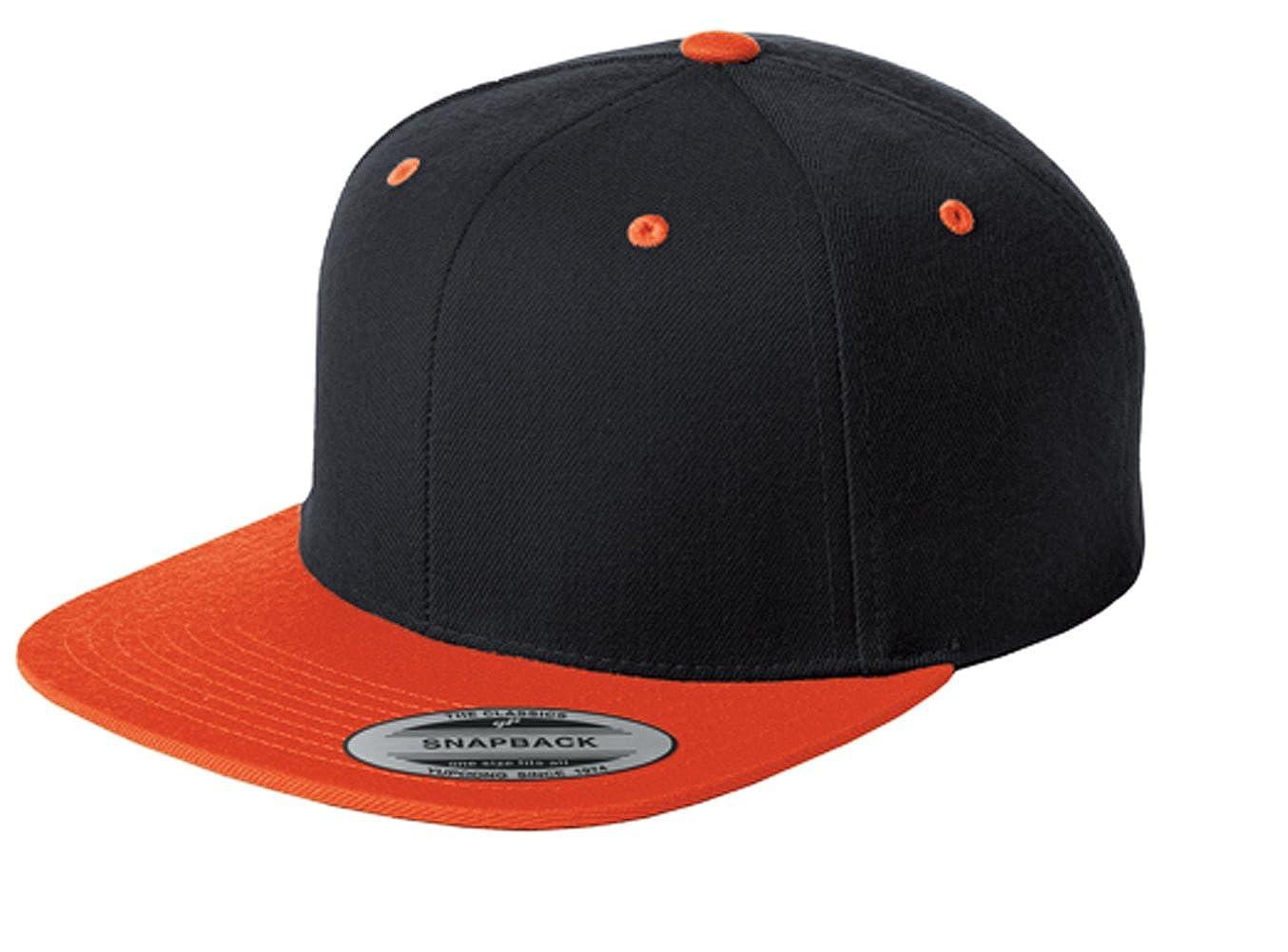 8b2045fb557 Sport-Tek Men s Flat Bill Snapback Cap