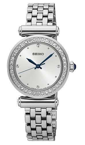 Seiko Reloj Analogico para Mujer de Cuarzo con Correa en Acero Inoxidable SRZ465P1: Amazon.es: Relojes