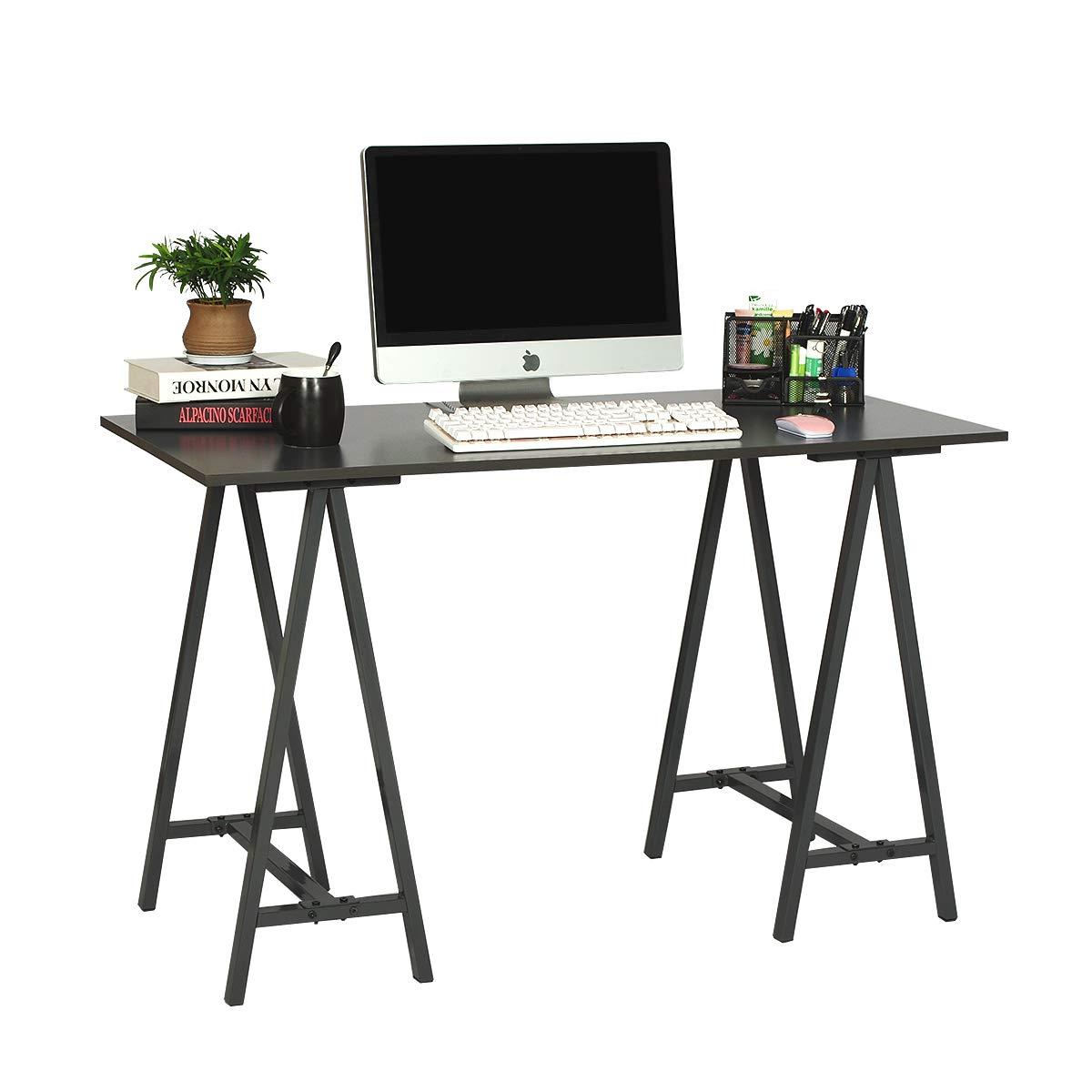 WLIVE Corner Computer Desk with Bookshelves and File Cabinet L-Shaped Desk in Black
