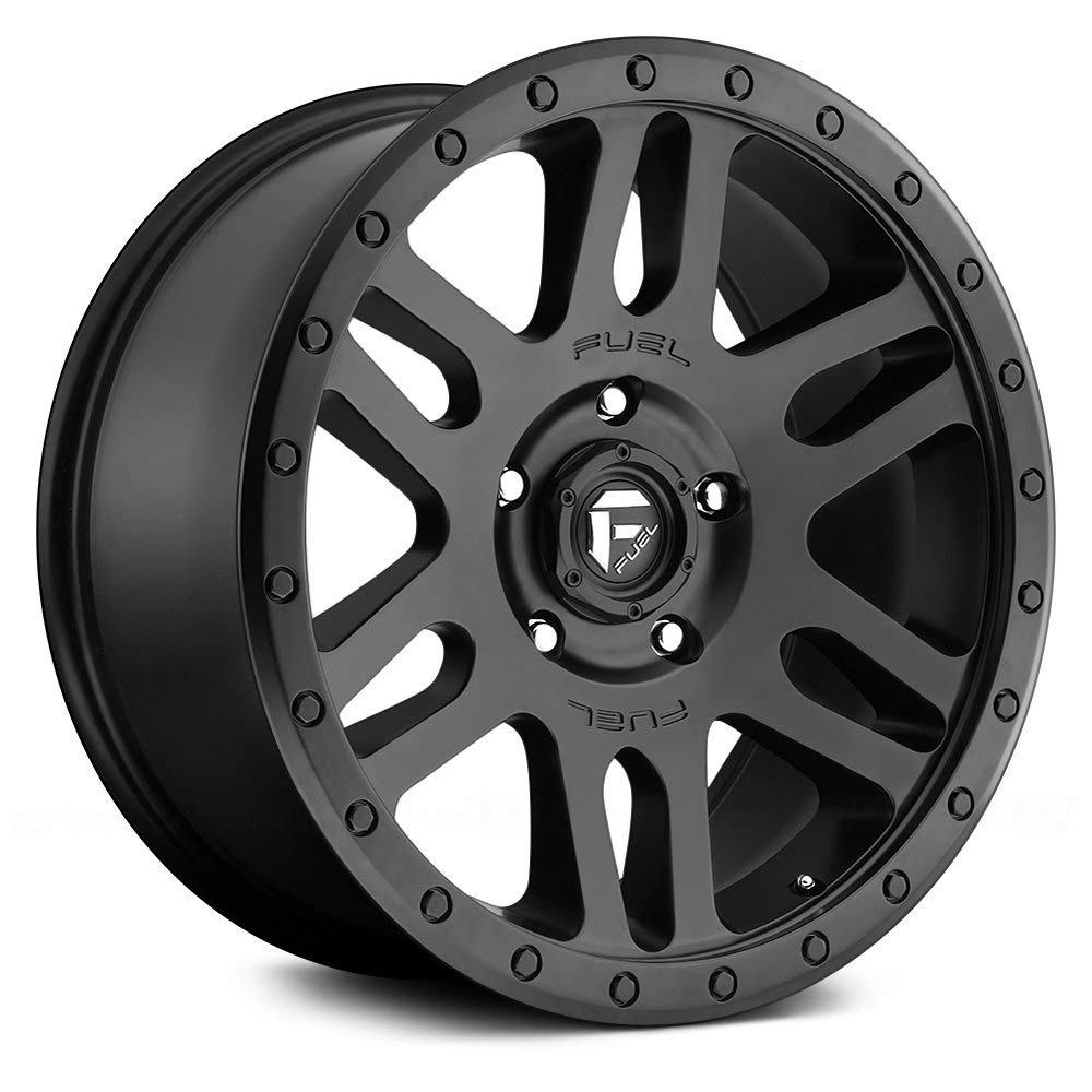 Fuel Recoil black Wheel with Painted Finish 17 x 8.5 inches //6 x 5 inches, -6 mm Offset