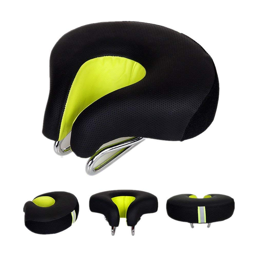 Zisen Noseless Bike Saddle Seat for Men and Women High Resilience MTB Large Bicycle Seats Comfortable Outdoor Sports Cycling Pad Cushion