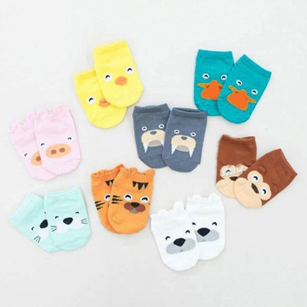 Infant Boys Girls Toddler Baby Ankle Cartoon Animals Anti Slip Cotton Socks Perfect Fun time Play Activity for Infants /& Toddlers Anniston Baby Accessories Brown Monkey S 0-1y