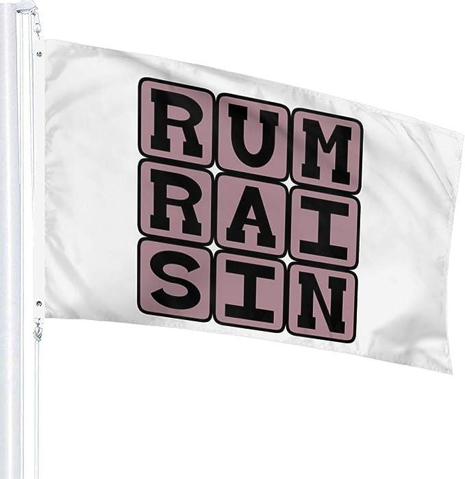 N/D Ron pasa, bandera de sabor a helado, 3 x 1,5 m: Amazon.es ...