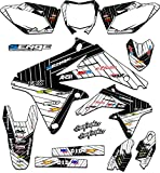 2006 suzuki rmz 450 graphics - Senge Graphics 2005-2006 Suzuki RMZ 450, Race Series White Graphics Kit