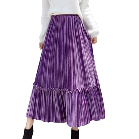 FSDFASS Faldas Mujeres Otoño E Invierno Falda Casual Cintura Alta ...
