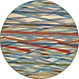 Unique Loom Eden Outdoor Collection Multi 8 ft Round Area Rug (8' x 8')