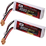 2pcs pour Batterie Lipo DJI Phantom 1 CX-20 FC40 Quadcopter 3000mAh 11.1V 3S 25C