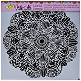 CRAFTERS WORKSHOP TCW632 Template, 12'' x 12'', Sweet Posey, White