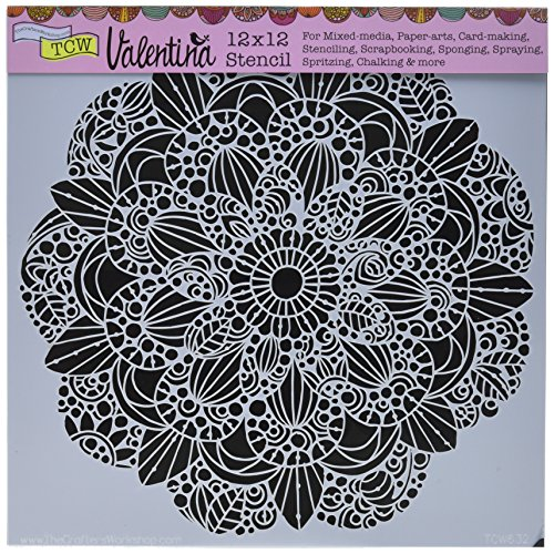 CRAFTERS WORKSHOP TCW632 Template, 12'' x 12'', Sweet Posey, White by CRAFTERS WORKSHOP