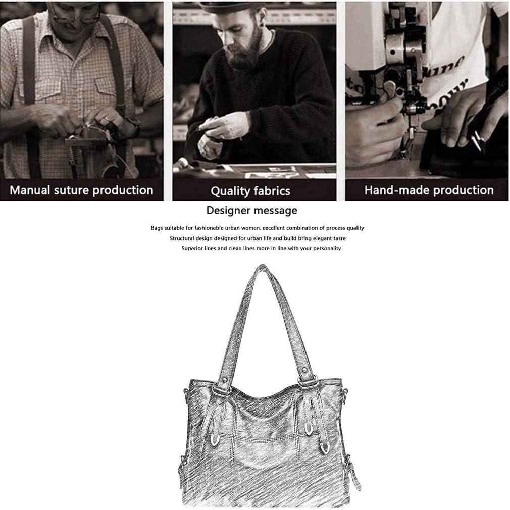 OhLt-j Le Donne in Pelle Borsa in Stoffa, Signore Portatile Borsa Scuola di informatica Shoulder Bag Leggero Lavoro di Affari Bag Grey (Color : B) A