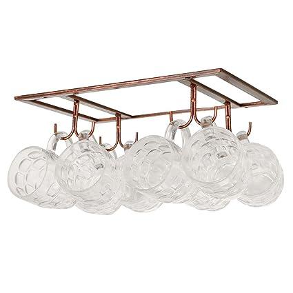 Merveilleux Exttlliy Iron Creative Mug Holder Hanging Wine Glass Drying Rack Under  Cabinet Coffee Cup Glasses Organizer