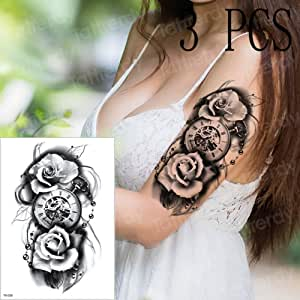 adgkitb 3 Piezas Tatuaje brújula Tatuajes mecánico Tatuaje gótico ...