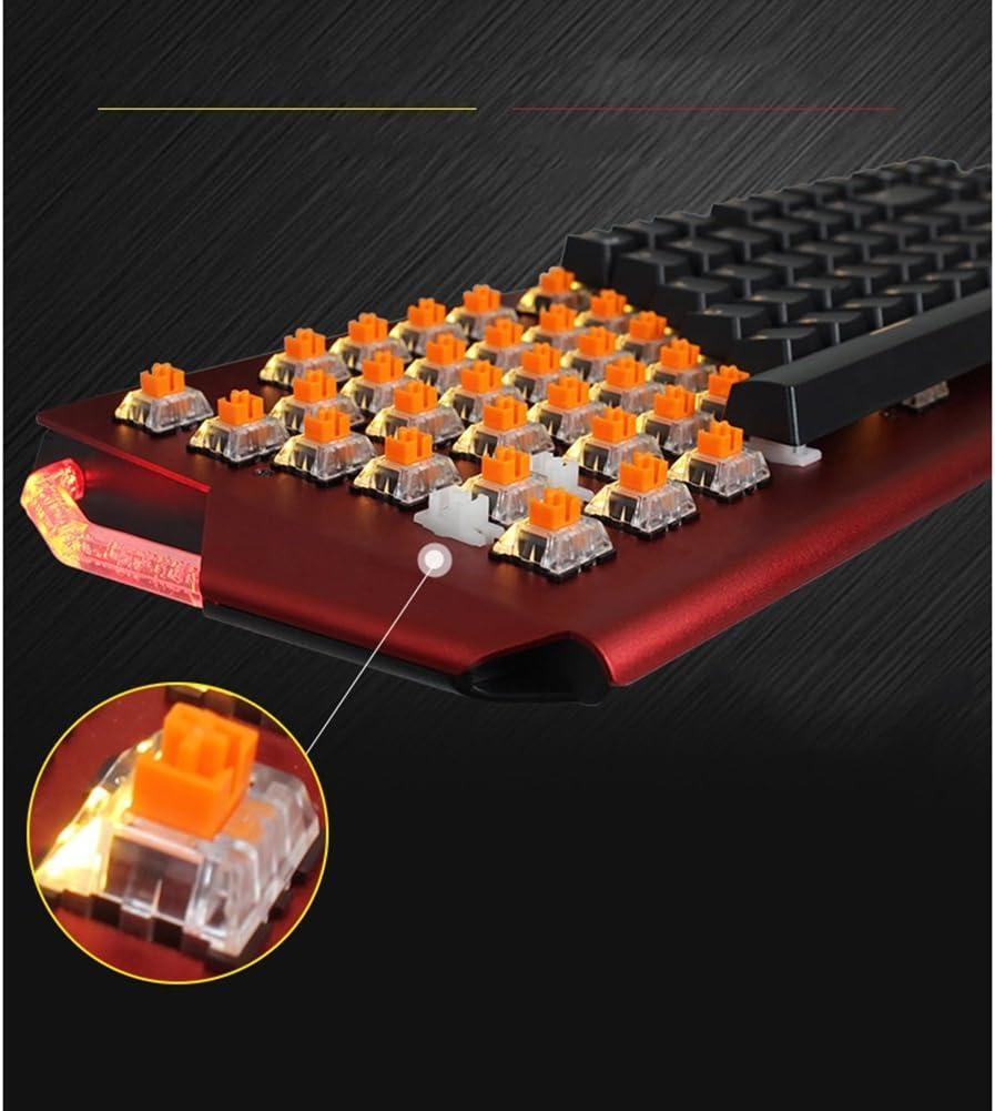 AUSWIEI Mechanical Gaming Keyboard LK Optical Switch 104 Key Waterproof Color : Black