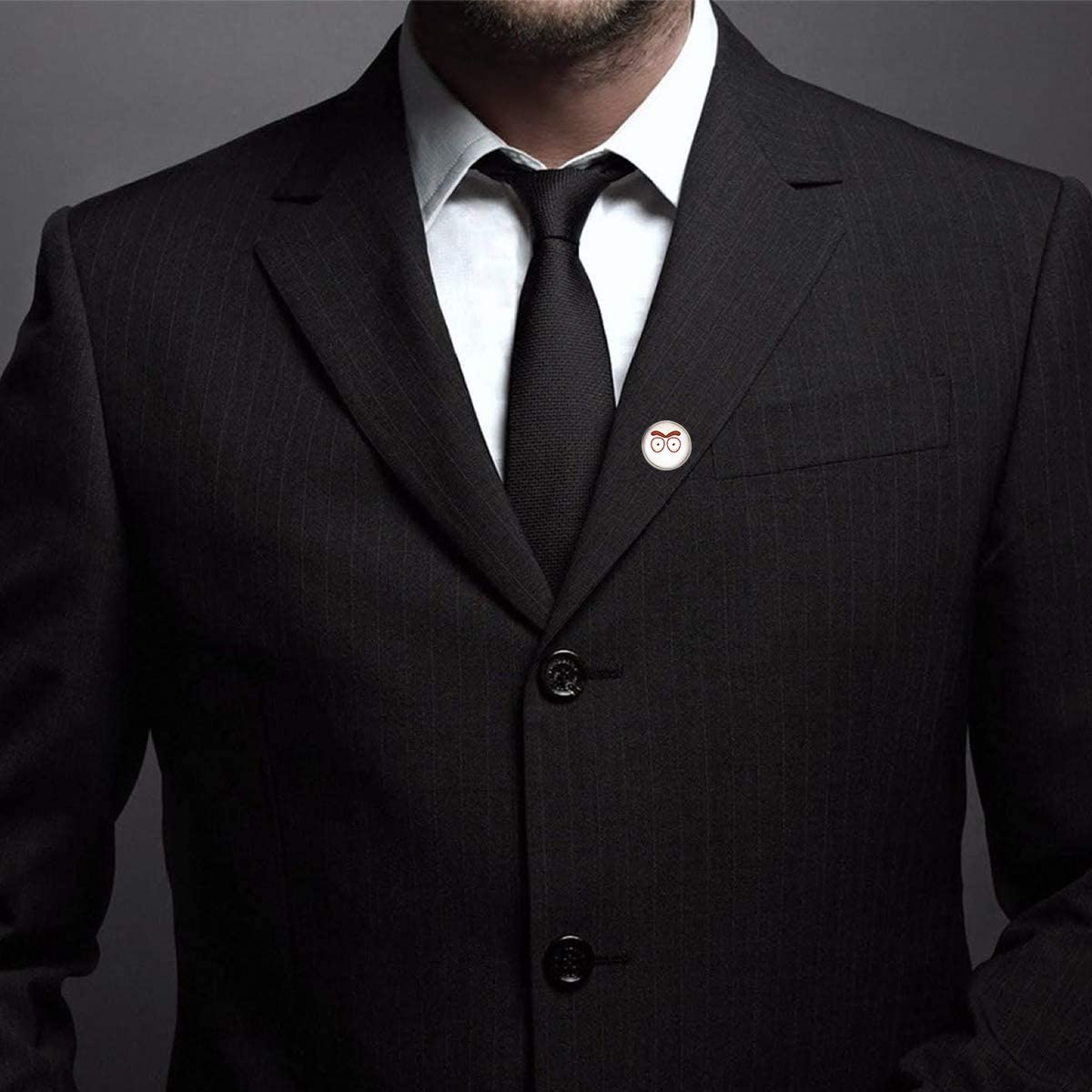 WAZZIT Round Metal Tie Tack Hat Lapel Pin Brooches Burst Tendons Eyes Banquet Badge Enamel Pins Trendy Accessory Jacket T-Shirt