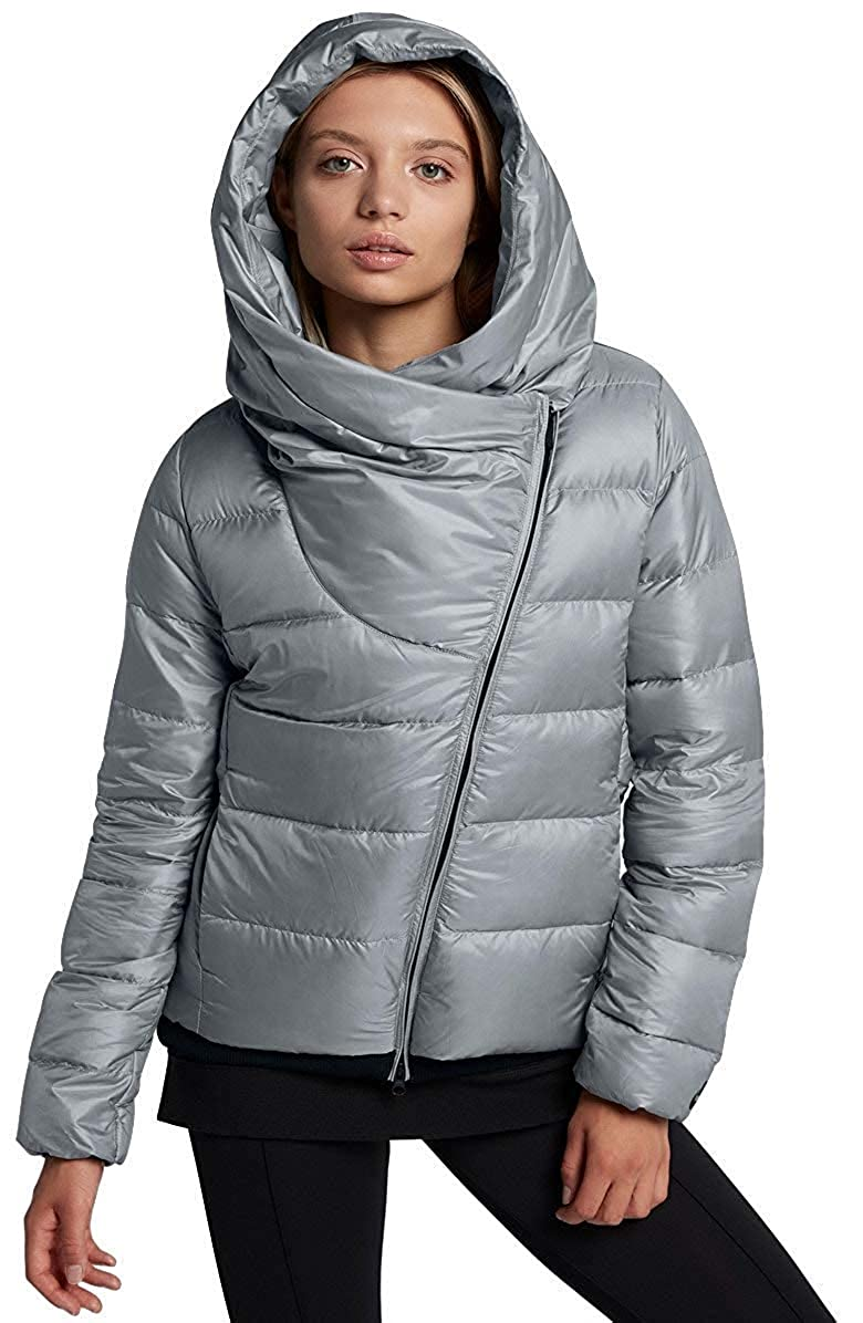 b86863759f87 Nike Women s Sportswear Puffer Down Jacket Black Cool Grey 854767 065 at  Amazon Women s Clothing store