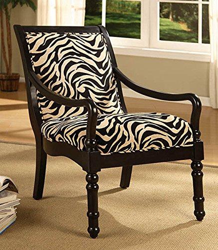 Metro Shop Turned Leg Zebra Print Arm Chair