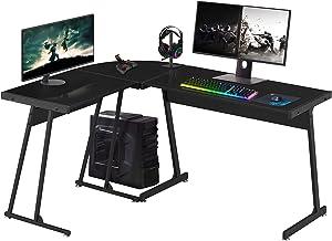 Symylife Gaming L Shaped Desk Computer Corner Desk,57.8