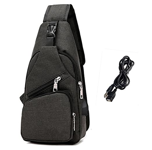 5d636dded8 ... Amazon.com Sling Bag Chest Shoulder Backpack Crossbody Bags for Men  Women Travel Outdoors with ...